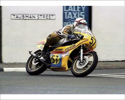 "10""x8"" (25x20cm) Print of Phil Mellor (Yamaha) 1981 Senior TT from"