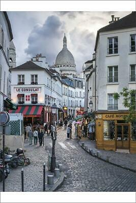 "14647544 12""x8"" (30x20cm) Print Streets of Montmartre with Sacre..."