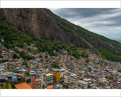 "19924439 10""x8"" (25x20cm) Print Houses in Rocinha, the largest fa..."