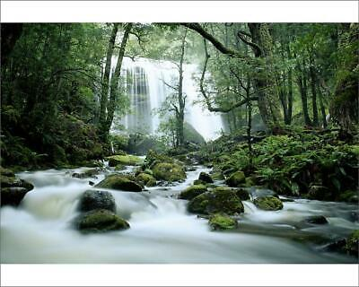 "10""x8"" (25x20cm) Print of Jerusalem River Waterfalls, Tasmania from"