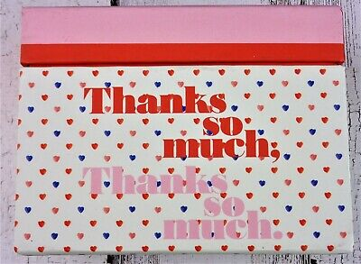 """Emily + Meritt Thanks So Much Notes Box 3 1/2 x 5"""" 15 Cards and Envelopes"""