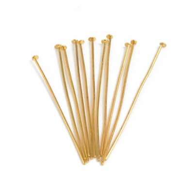 150pcs Head Pins Finding for Jewelry Making 21 Gauge 50x0.8mm Gold Plated