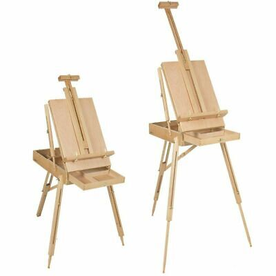 Oil Painting Easel Sketch Box Portable Folding Durable Artist Tripod Wooden US
