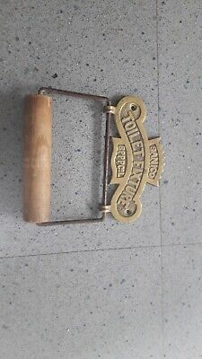 antique brass toilet roll holder