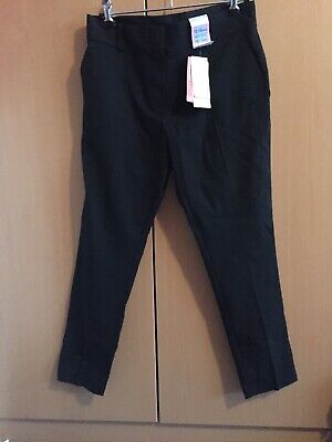 marks and spencer Girls Black School Trousers Slim Leg Age 12/13 New With Tags