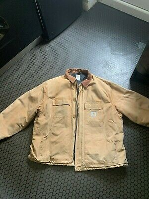 MENS 54 - Vintage Carhartt C03 Duck Arctic Quilted Lined Distressed Jacket