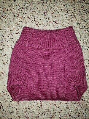 Wool Cloth Diaper Cover Sustainablebabyish Sloomb Soaker Size XS purple EUC