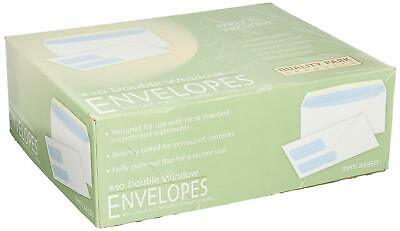 """Envelopes w/Double Window, No.10, 4-1/8""""x9-1/2"""", 500/BX~Quality Park~DISCOUNTED"""