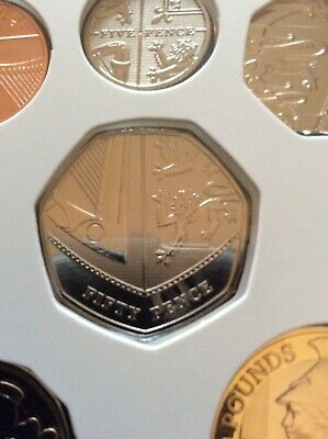 2020 Fifty 50P Pence From Royal Mint Annual Definitive Coin Set.uncirculated