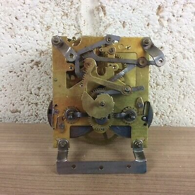Vintage Mantle Clock Movement For Spares Or Repair #2