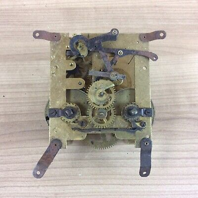 Vintage Mantle Clock Movement For Spares Or Repair #5