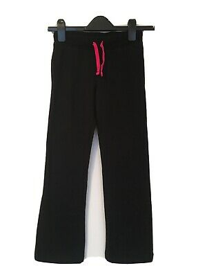 F&F Girls Black / Pink Jogging Bottoms 8-9 Yrs