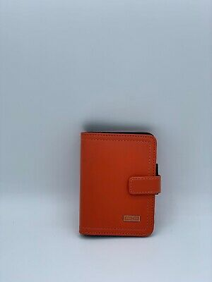 "Franklin Covey Day 1 One Micro Size Orange 5 Ring Binder Planner 2 5/8"" x 4 1/8"""