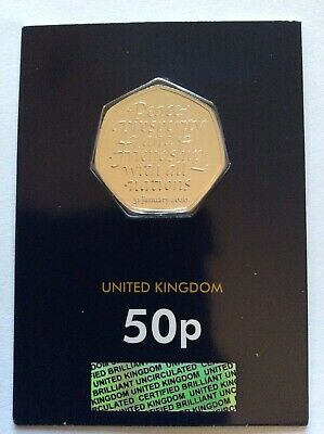 OFFICIAL BREXIT 50p COIN BU MINT CARDED SEALED **NEW**
