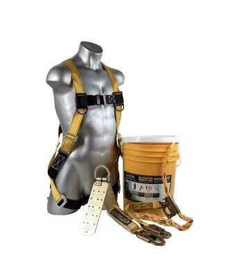 New Guardian Fall Protection Pro Series Fall Protection Harness Rope Kit 20815