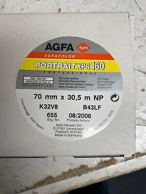 Agfa Portrait DPS 160, 100 Ft Roll 70 Mm Expired Refrigerated New In Box