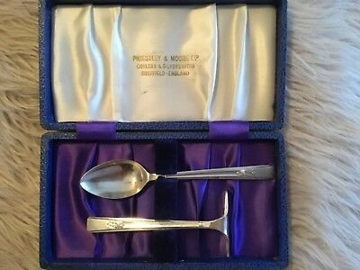 Vintage Silver Spoon & Pusher & Certificate