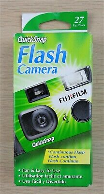Fujifilm QuickSnap One Time Use 35mm Camera Continuous Flash 400 Speed 27 exp.