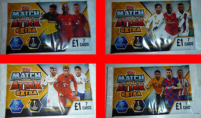 10x PACKS Match Attax Extra UEFA Champion League 2019/2020 70 Trading Cards BNIP