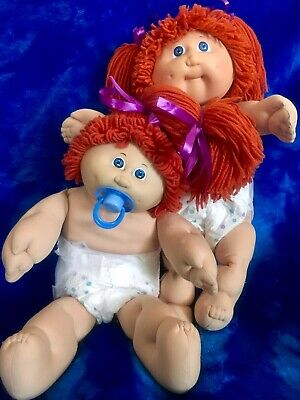 Twins Girls Vintage Coleco Paci ~ Red Hair Blue Eyes ~ PACIFIER ~ In Need Of TLC