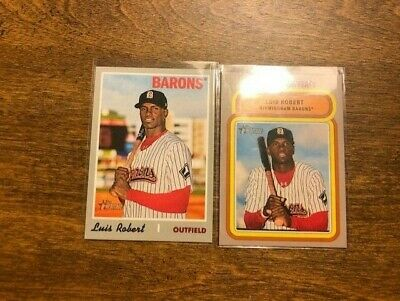 2 Luis Robert 2019 Topps Heritage Minor League Fantastic Feat & Base