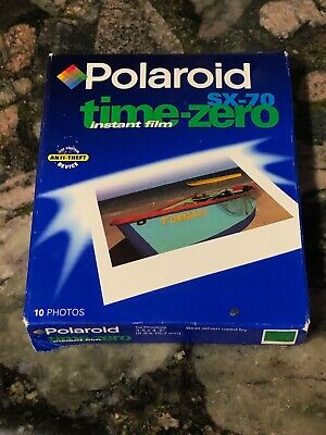 POLAROID SX-70 Vintage Instant Film Time Zero Pack Unopened EXP 03/99