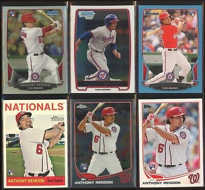 ANTHONY RENDON 2012 Bowman Chrome 2013 Topps Update + Refractor + /500 LOT x6 RC