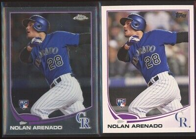 NOLAN ARENADO 2013 Topps Update US259 + Topps Chrome Update MB-39 LOT x2 RC
