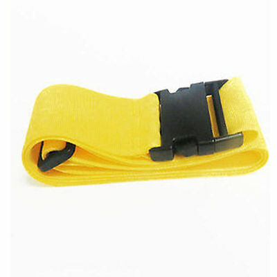 Yellow Luggage Suitcase Baggage Bag Backpack Cross Strap Belt Plastic Clasp