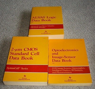 Texas Instruments 3 Data Book Set - 1986-1987 AS/ALS, CMOS, and Optoelectronics