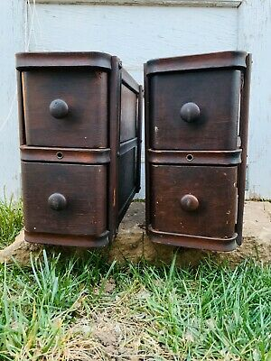 (4) Antique Singer Treadle Sewing Machine Oak Drawers w/ Frames an Drawer Pulls