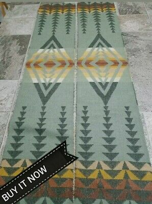 "Pendleton Wool Blanket Wt.  ""Remnant"" Fabric  (2 Lot) Tribal New Harding Pieces"