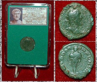 Ancient Roman Empire Coin ANTONINUS PIUS Hermes Nicemedia, Bithynia