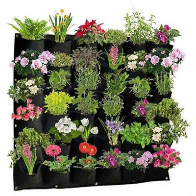 Wall Hanging Planting Bags Garden Vertical Planter Pocket Flower Growing Pots UK