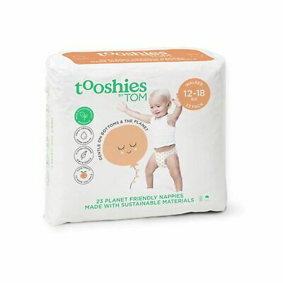 Tooshies Walker Nappies 12-18kg Gentle of Bottoms Gentle on the Earth - 23pk
