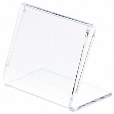 """Plymor Clear Acrylic Sign Display / Literature Holder (Angled), 2"""" W x 1.5"""" H"""