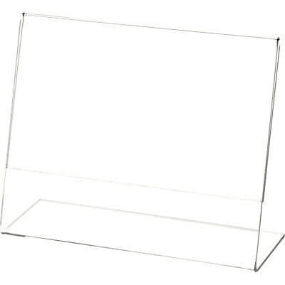"Plymor Clear Acrylic Sign Display / Literature Holder (Angled), 7"" W x 5.5"" H"