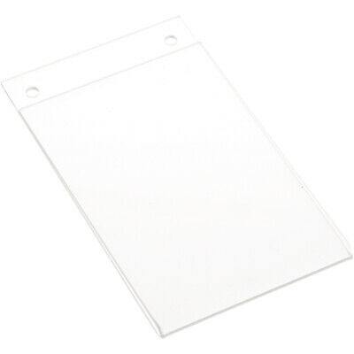 "Plymor Clear Acrylic Sign Display / Literature Holder (Wall-Mount), 4"" W x 6"" H"