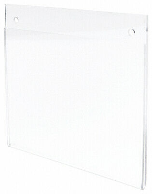 "Plymor Clear Acrylic Sign Display / Literature Holder (Wall-Mount), 7"" W x 5"" H"