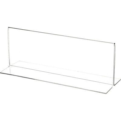 "Plymor Clear Acrylic Sign Display/Literature Holder (Bottom-Load), 10"" W x 3.5""H"