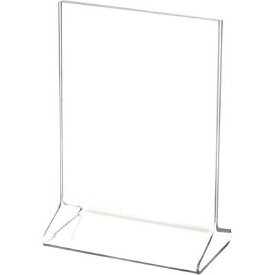 "Plymor Clear Acrylic Sign Display / Literature Holder (Top-Load), 4"" W x 5"" H"