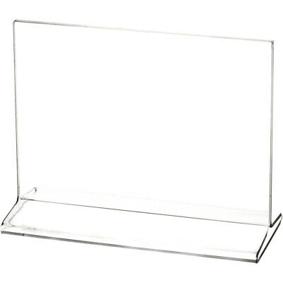 "Plymor Clear Acrylic Sign Display / Literature Holder (Top-Load), 6"" W x 4"" H"