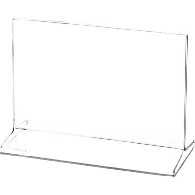 "Plymor Clear Acrylic Sign Display/Literature Holder (Top-Load), 5.5"" W x 3.5"" H"