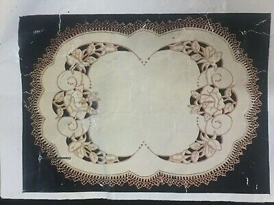 """""""Rose Cameo""""  ❤️ Vintage Stamped Linen To Embroider a Traycloth by Myart  #1470"""