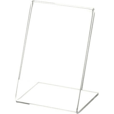 "Plymor Clear Acrylic Sign Display / Literature Holder (Angled), 2.5"" W x 3.5"" H"