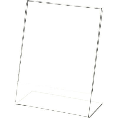 "Plymor Clear Acrylic Sign Display / Literature Holder (Angled), 5.5"" W x 7"" H"