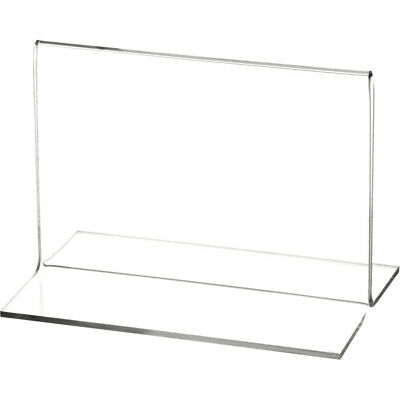 "Plymor Clear Acrylic Sign Display/Literature Holder (Bottom-Load), 5"" W x 3.5"" H"