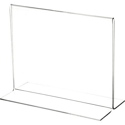 "Plymor Clear Acrylic Sign Display/Literature Holder (Bottom-Load), 7"" W x 5.5"" H"