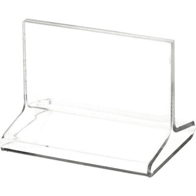 "Plymor Clear Acrylic Sign Display / Literature Holder (Top-Load), 3.5"" W x 2"" H"