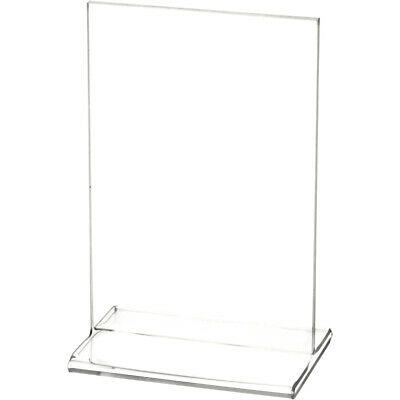 "Plymor Clear Acrylic Sign Display / Literature Holder (Top-Load), 4"" W x 6"" H"